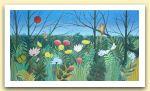 Miriam Bizioli, pannello decorativo con foresta, acrilico su.jpg