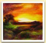 Clementina Macetti  tramonto, acrilico su tavola.jpg
