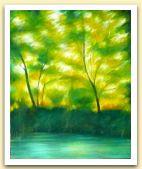 Clementina Macetti, Luce verde, olio su tela.jpg