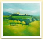 Clementina Macetti, Castello lacustre, olio su tela.jpg