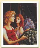 Amore e Psiche, 1990 Olio su tela, cm 110x90.jpg