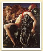 Prometeo o l`altro Lucifero, 1986 Olio su tela, cm 170x150.jpg