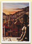 Le ore di Edipo,1988 Olio su tela,cm135x185.jpg