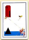 1-il pellegrino approda nella casa di Giotto, tempera su carta 2007, cm 70x50.jpg