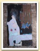 20-Donna e cavallo, tecnica mista su carta amate,  40x28,50 cm. 1983.jpg
