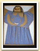9-Angelo, tecnica mista su tela estroflessa, 40x30 cm. 1992.jpg