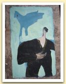 38-Personaggio, tecnica mista su carta amate, 40x28,20 cm. 1983.jpg