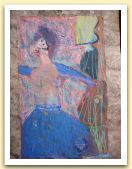 21-Donna in movimento, tecnica mista su carta amate, 40x28,50 cm. 1985.jpg