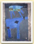 10-Animali, tecnica mista su carta amate,  40x28,50 cm. 1985.jpg