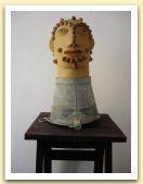 43-Testa virile, terracotta e secchio di lamiera, 50x29x29 cm. 2006.jpg