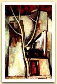 Il grande albero, 1964, Olio su tela, cm 115x74.jpg