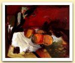 Composizione con frutta, 1990, Tecnica mista su tela, cm 40,5x50.jpg