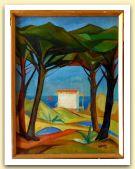 Pineta, Olio su tela, cm 65x50; 1949.JPG