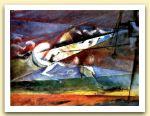 Il saraceno, 1993, Acrilico su tela, cm 30,5x40.jpg