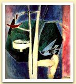 Il nido, 1968, Acrilico su tela, cm 93,5x84.jpg