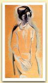 Vittoria (ritratto), 1970, Acrilico su carta, cm 150x80.jpg