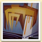 7-Apocalisse in giallo, acrilici su tela 1983, cm 111x111.jpg