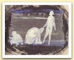 Carezza all`orso bianco,2006, tempera, pastello ad olio e china su carta Giappone, cm 32,5x44.jpg
