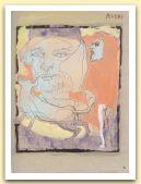 Avere II, Della luna, la maschera e il cane, 2004, tempera e china su carta Fabriano Roma, cm 33x24.jpg