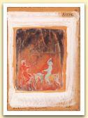 Avere, Dell`incontro di cavalieri, 1988,, tempera e acquerello su carta di vecchio registro, cm 33,5x23,5, collezione Ferney-Voltaire.jpg