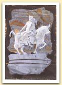 Dare, Di Europa, 2006, china e tempera su carta di vecchio registro, cm21x37, collezione privata, Zurigo.jpg