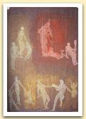 Acena dantesca II, tempera su carta marmorizzata, cm 100x70, collezione privata, Steffisburg.jpg