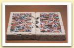 Messale, 1995 - Travertino siciliano, lattine, spago, piombo Cm 30 x 60 x 5  Collezione prof. Gaetano Foti, Catania.jpg