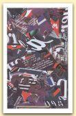 Scrittura in blu,  1999  Plotter painting su tela e acrilico  Cm 45,5 x 73.jpg