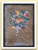 Caduta  di lettere, 1999  --  Ritagli di lattine su carta a mano   Cm 35 x 50.jpg