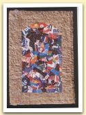 Icona , 1999   -- Ritagli di lattine su carta a mano      Cm 35 x 50  .jpg