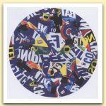 Tondo , 1999  Plotter painting su tela e acrilico  Cm 95 x  2,5.jpg