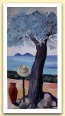 4-Albero, cappello, giara - olio su tela cm80x50.jpg